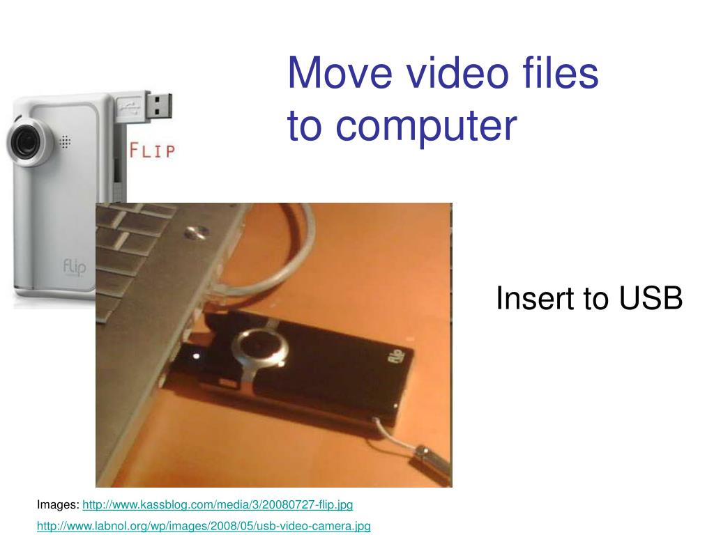 Insert to USB