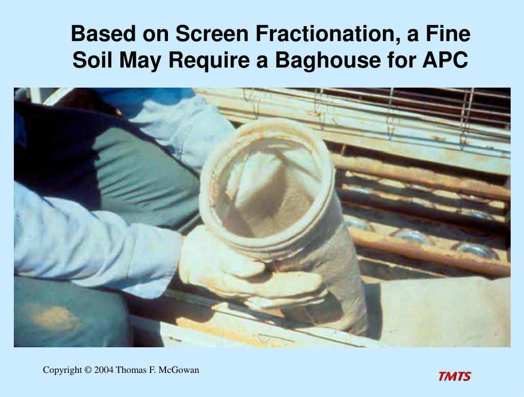 Based on Screen Fractionation, a Fine Soil May Require a Baghouse for APC