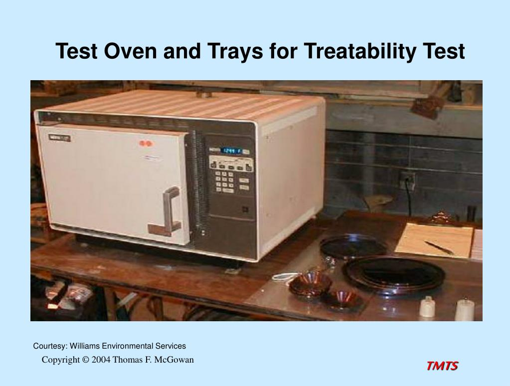 Test Oven and Trays for Treatability Test