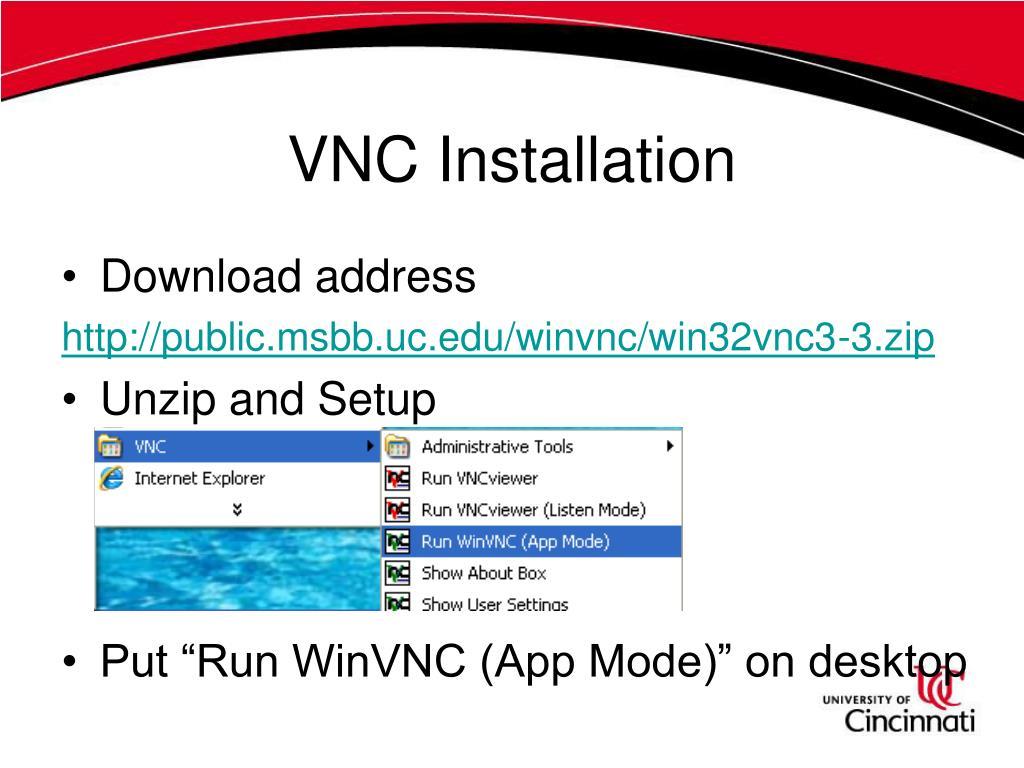 VNC Installation