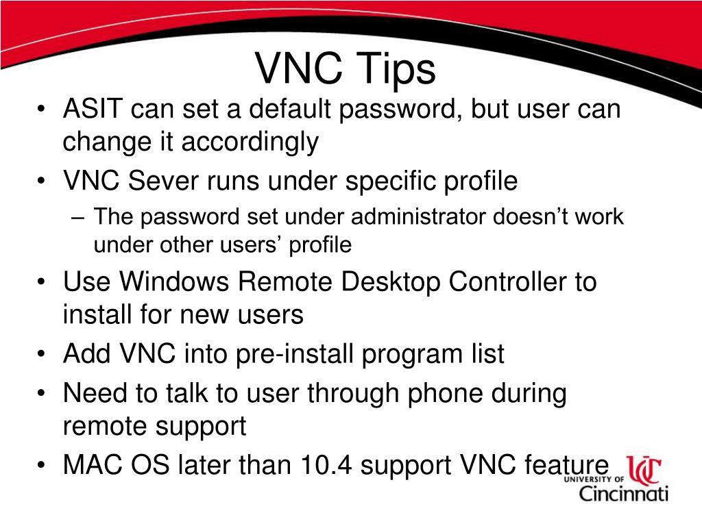 VNC Tips