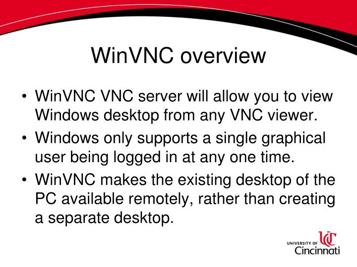 Winvnc overview