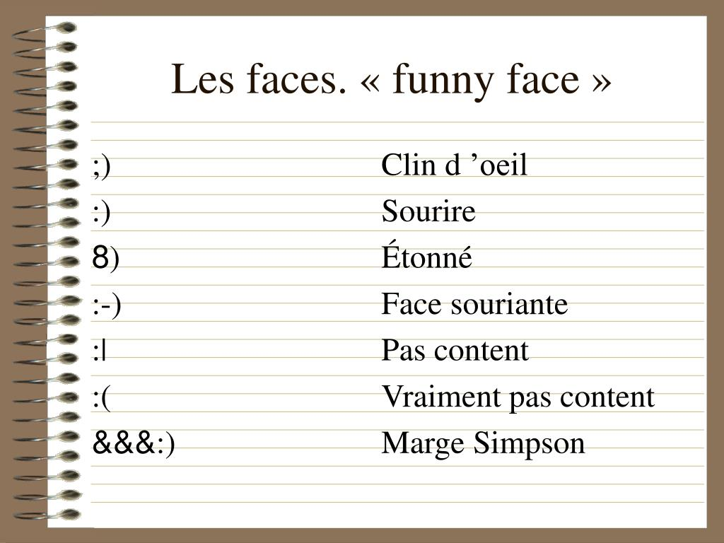 Les faces. «funny face»