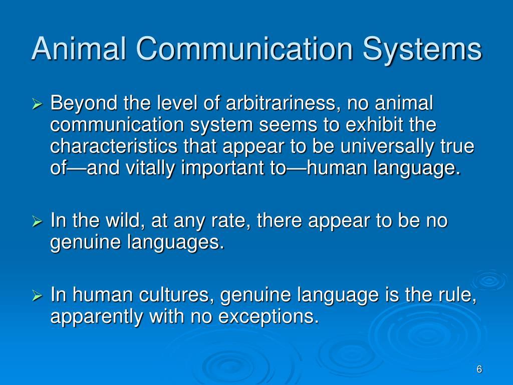 Animal Communication Systems