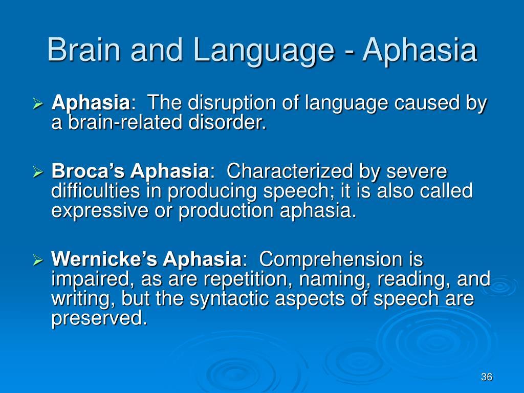 Brain and Language - Aphasia