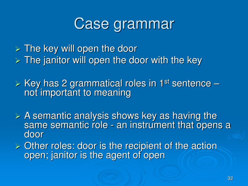 Case grammar