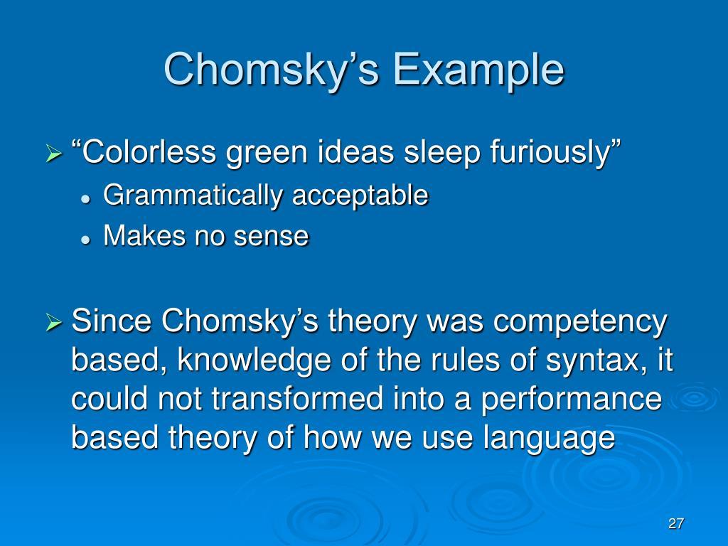Chomsky's Example