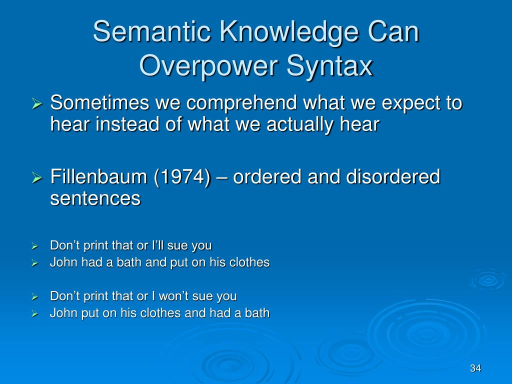 Semantic Knowledge Can Overpower Syntax