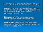 universals of language cont
