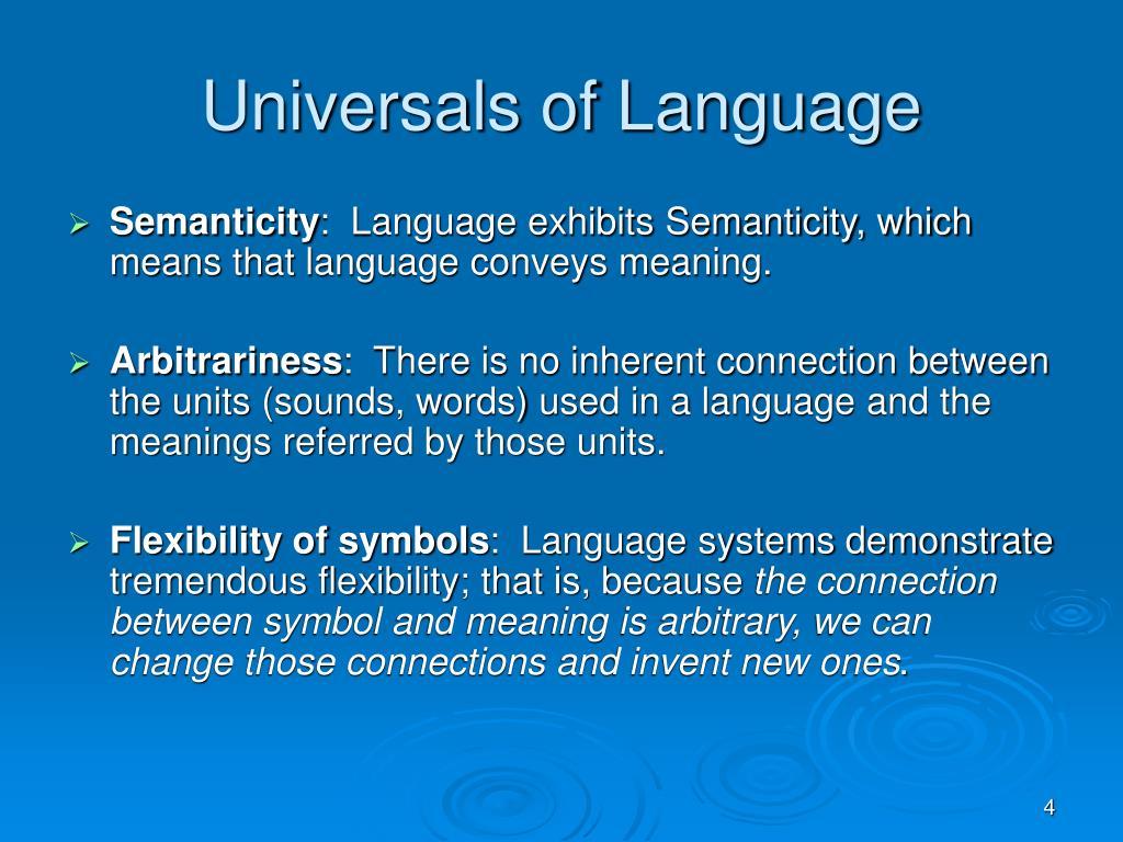 Universals of Language