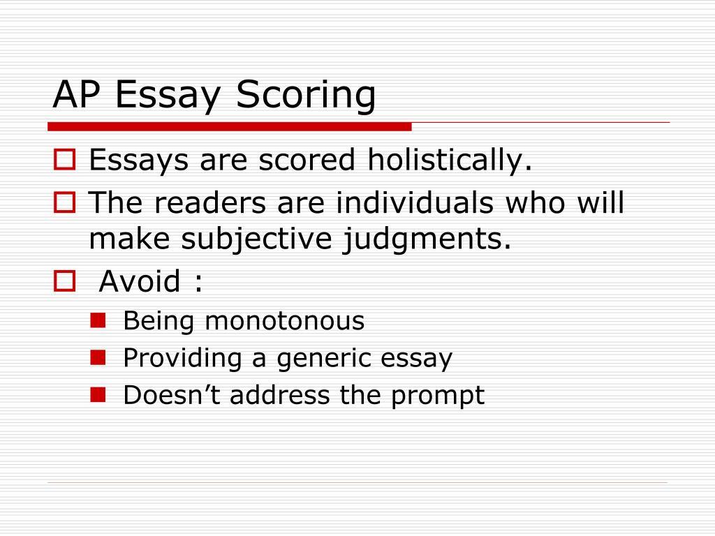 AP Essay Scoring