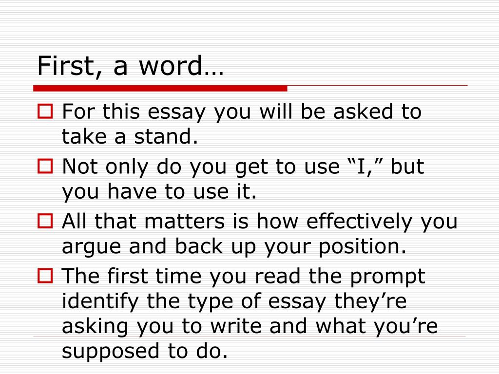 First, a word…