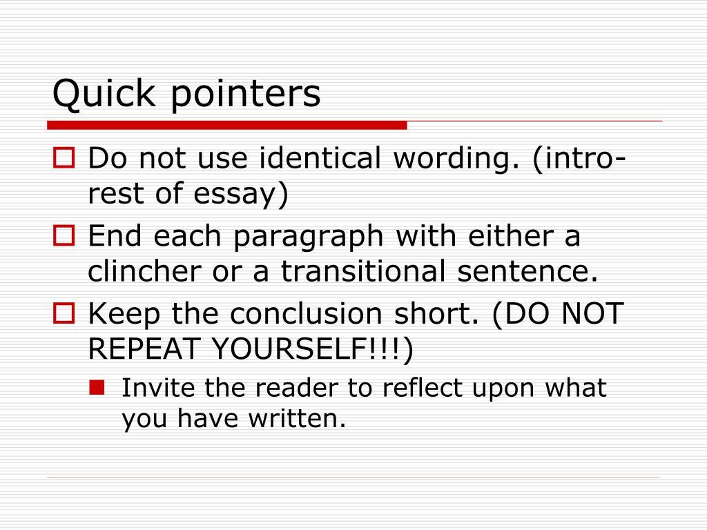 Quick pointers