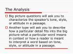 the analysis22