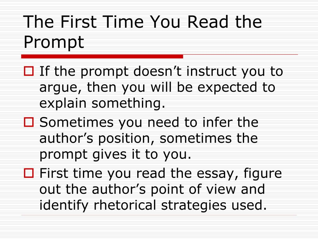 The First Time You Read the Prompt