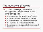 the questions thoreau25
