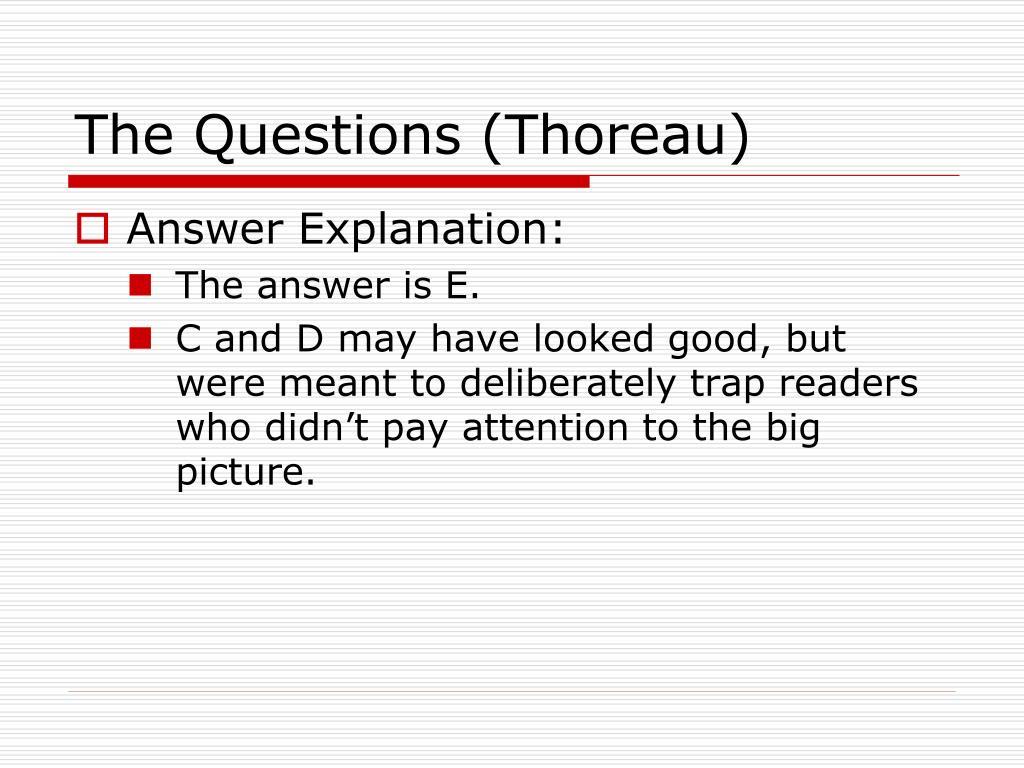 The Questions (Thoreau)