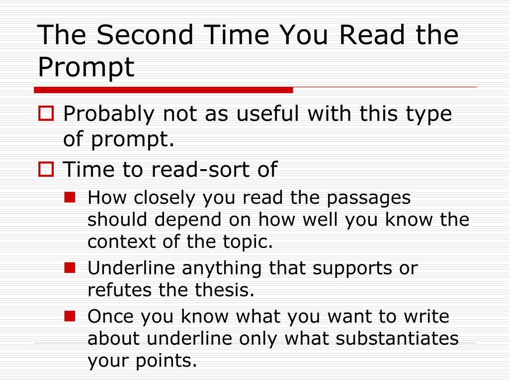 The Second Time You Read the Prompt