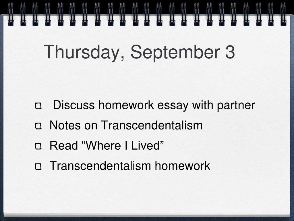Thursday, September 3