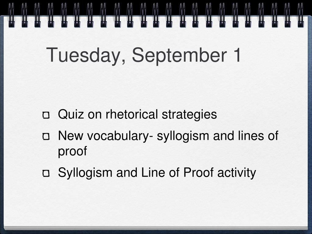 Tuesday, September 1