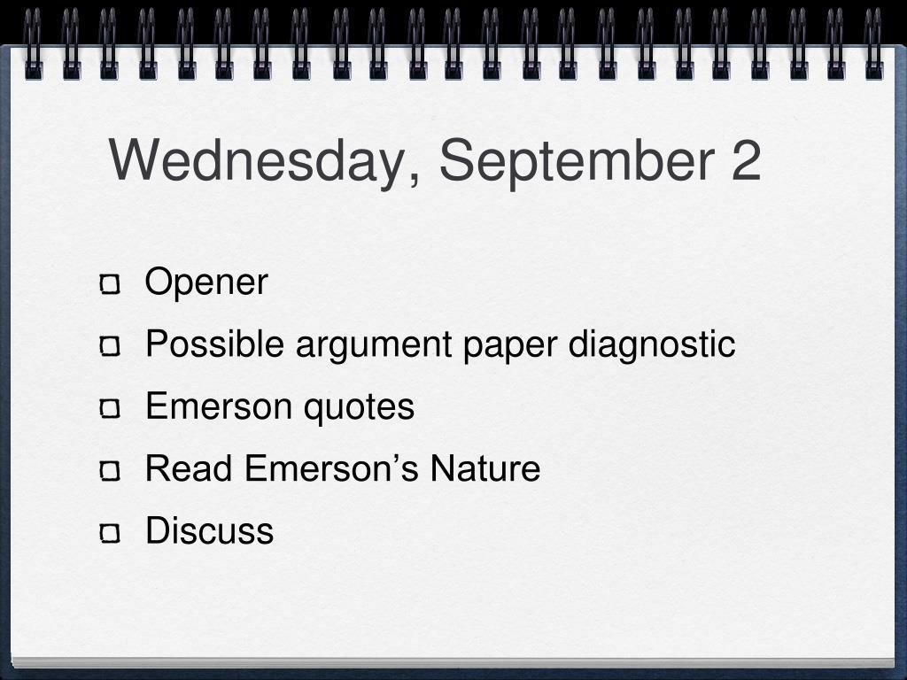 Wednesday, September 2