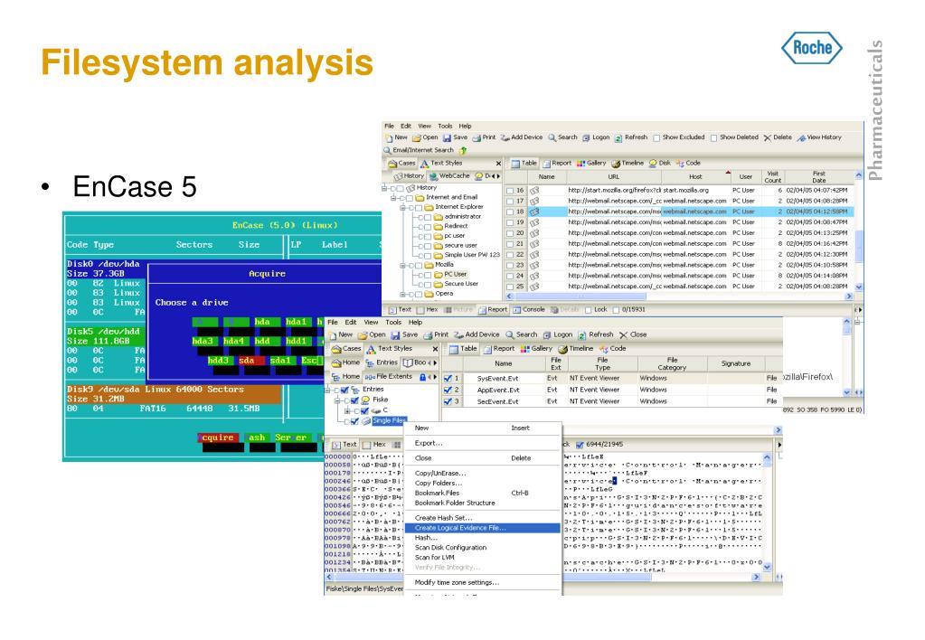 Filesystem analysis