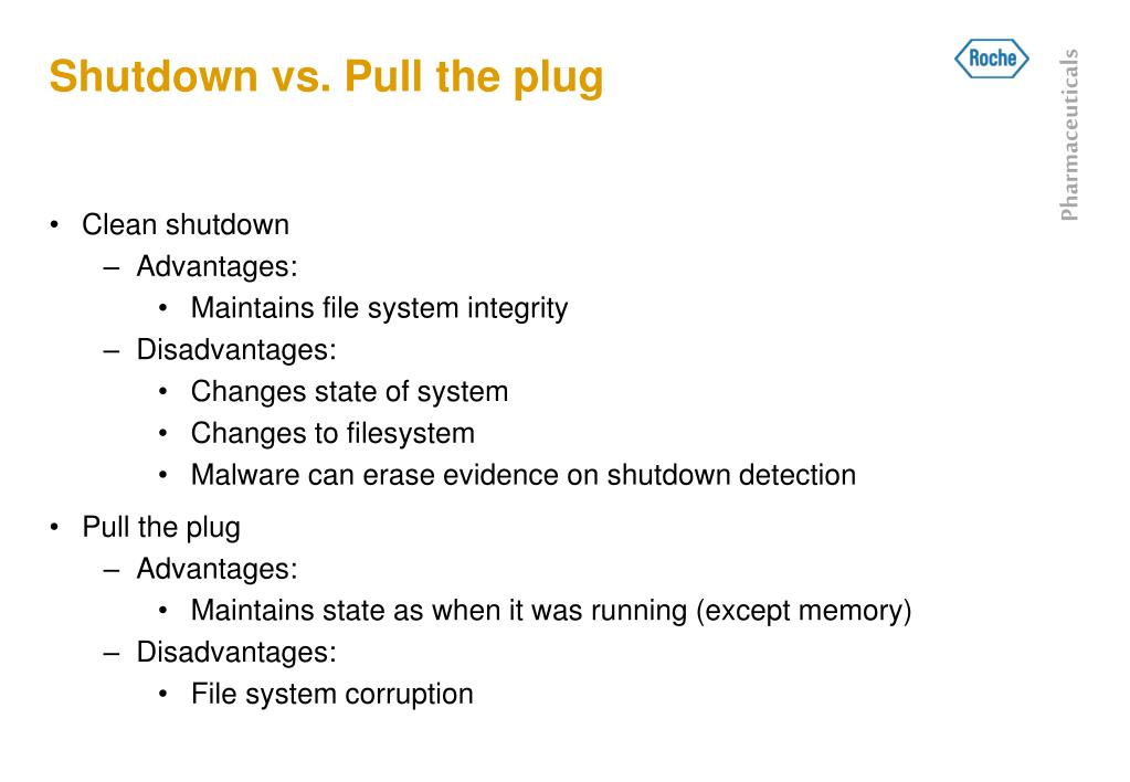 Shutdown vs. Pull the plug