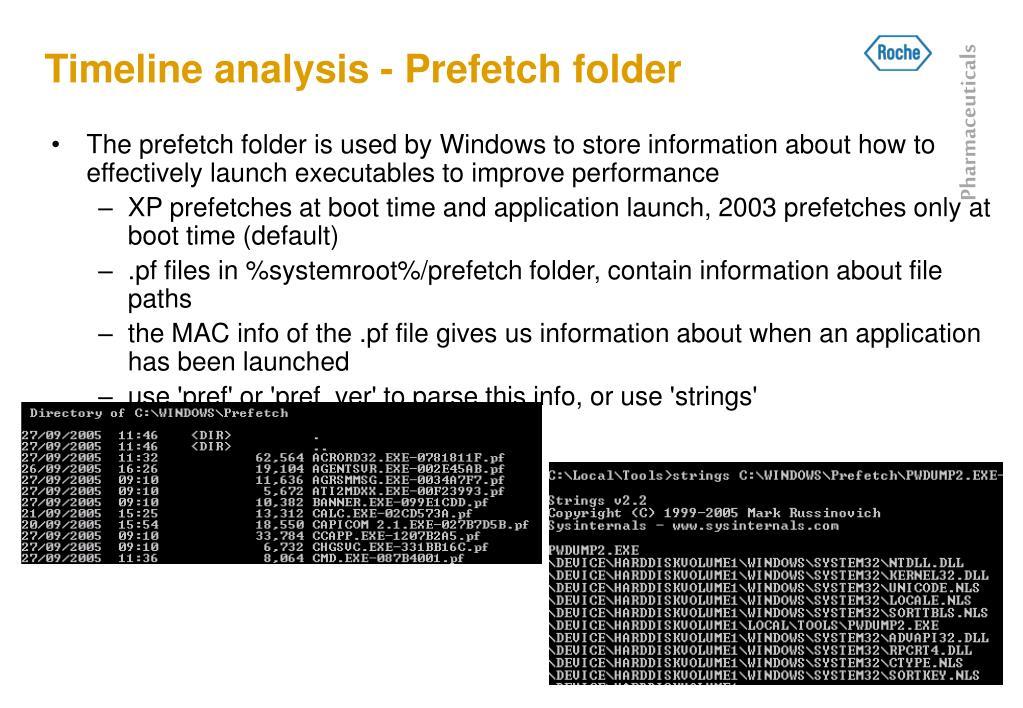 Timeline analysis - Prefetch folder