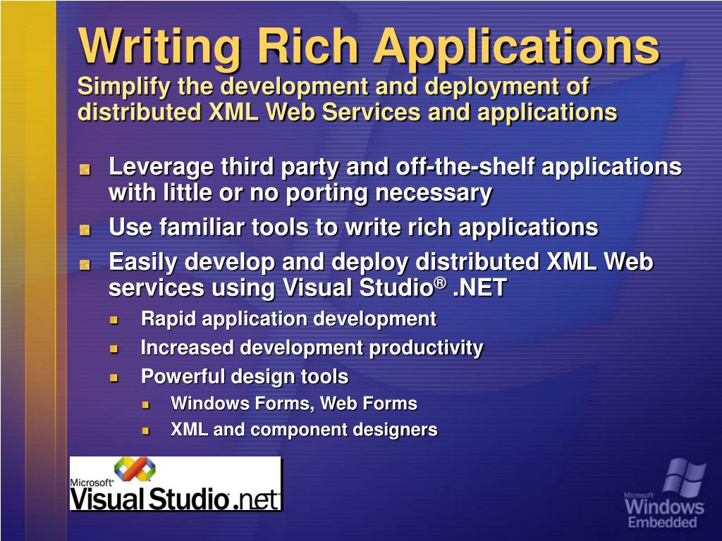 Writing Rich Applications