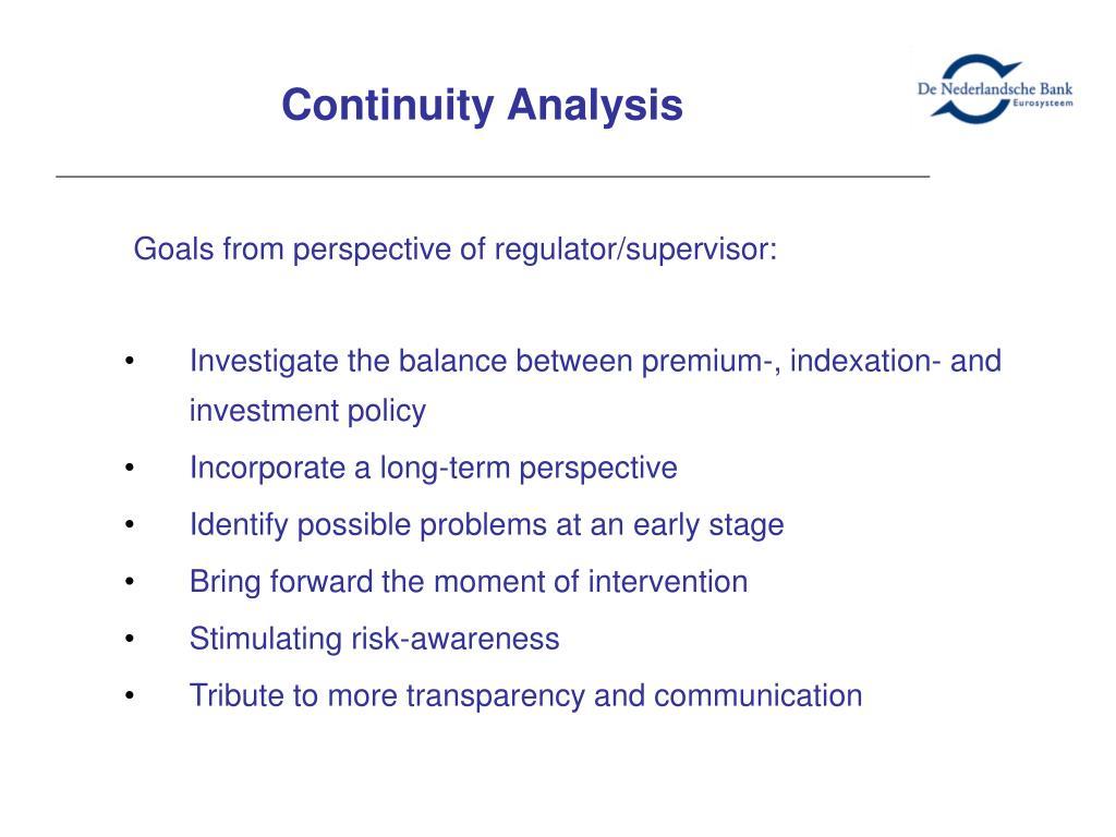 Continuity Analysis