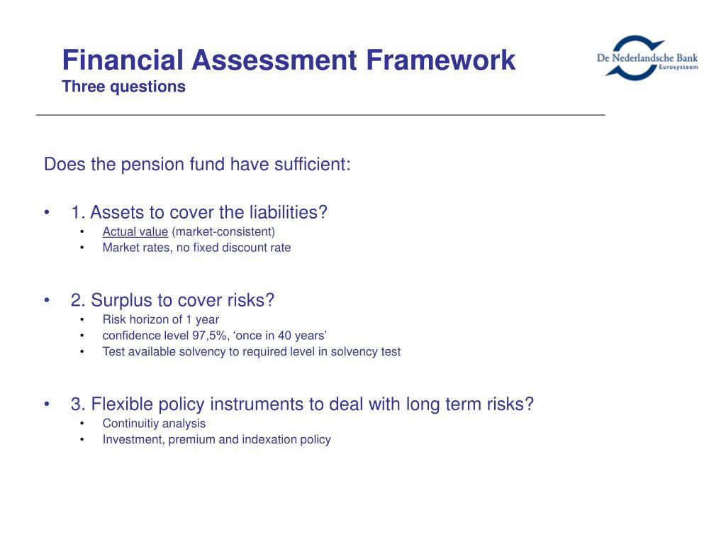 Financial Assessment Framework