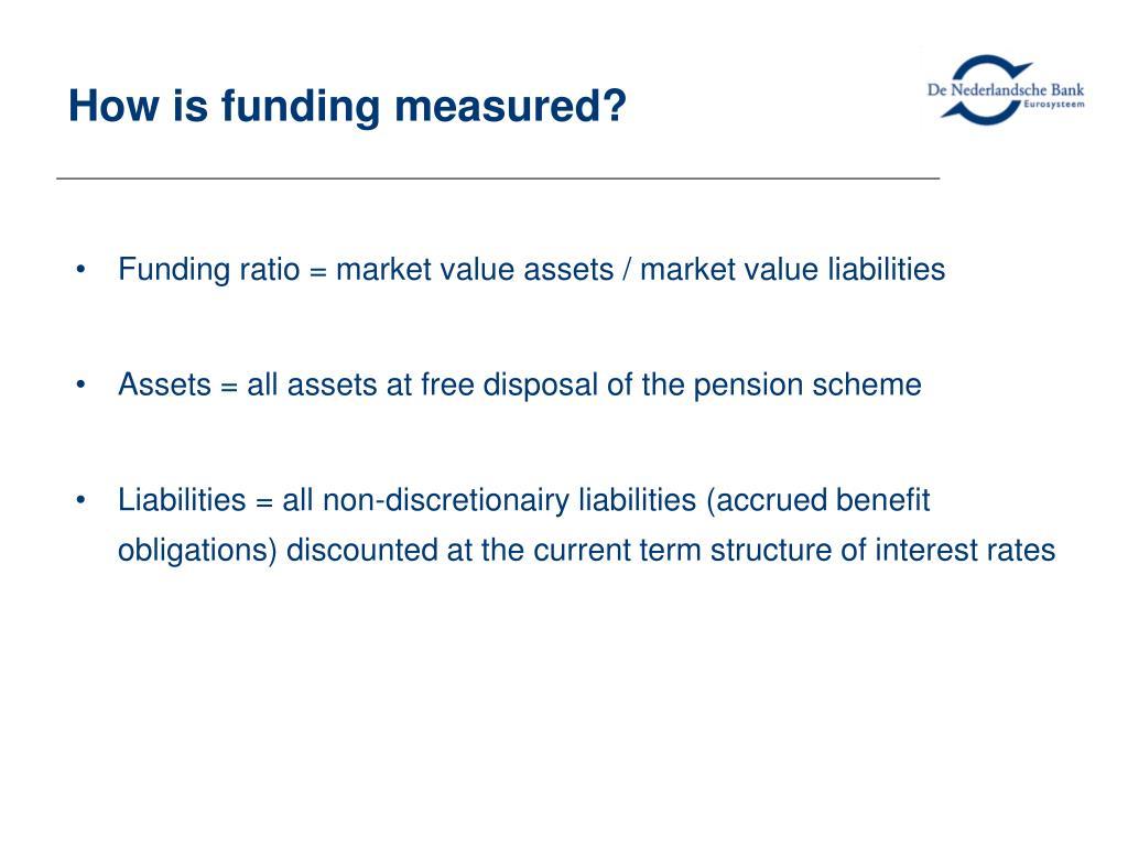How is funding measured?