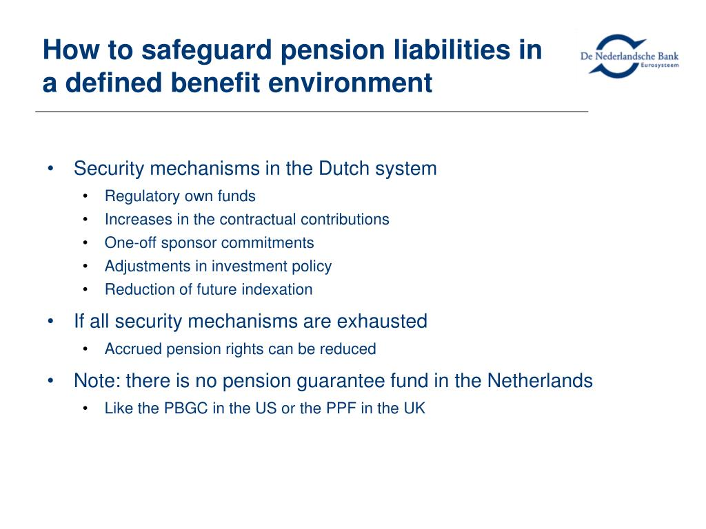 How to safeguard pension liabilities in a defined benefit environment
