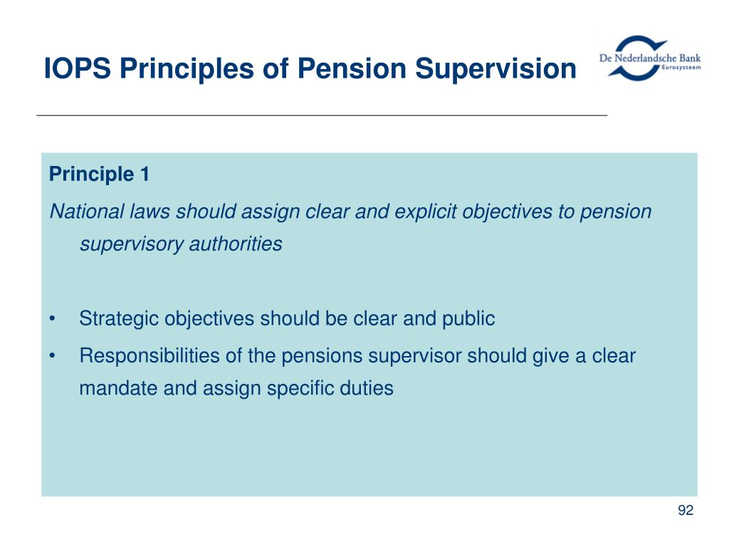 IOPS Principles of Pension Supervision