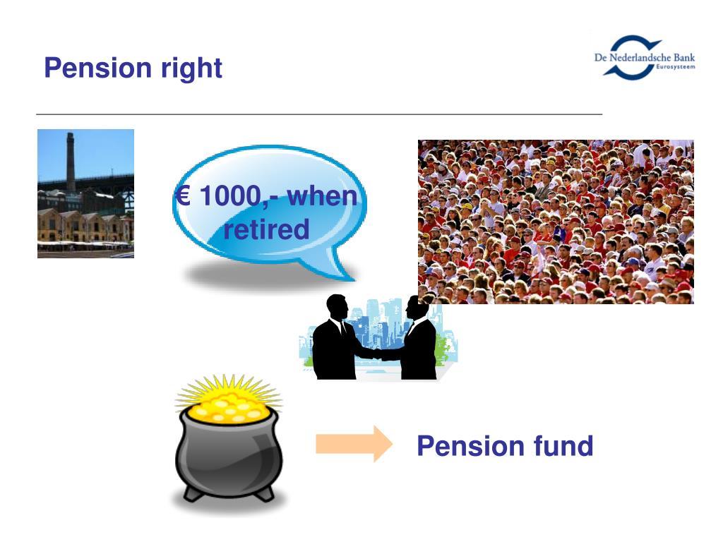 Pension right