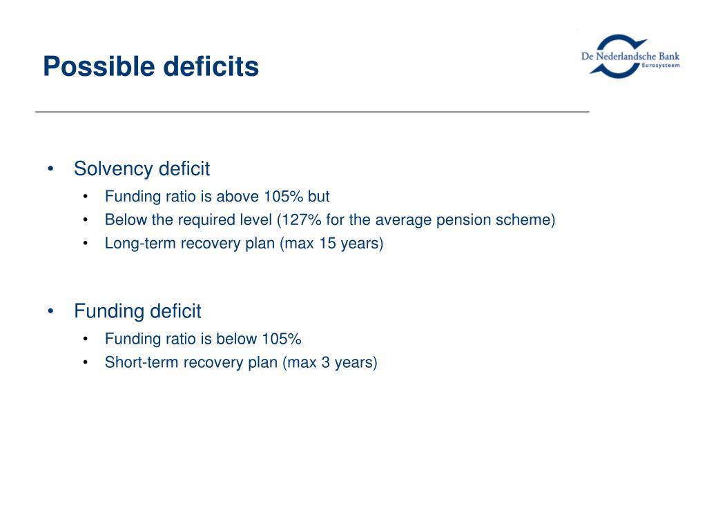 Possible deficits