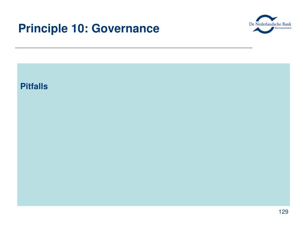 Principle 10: Governance