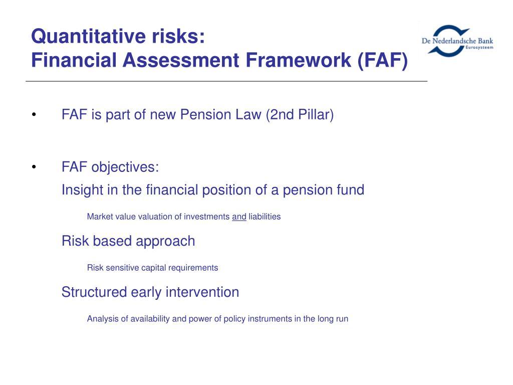 Quantitative risks: