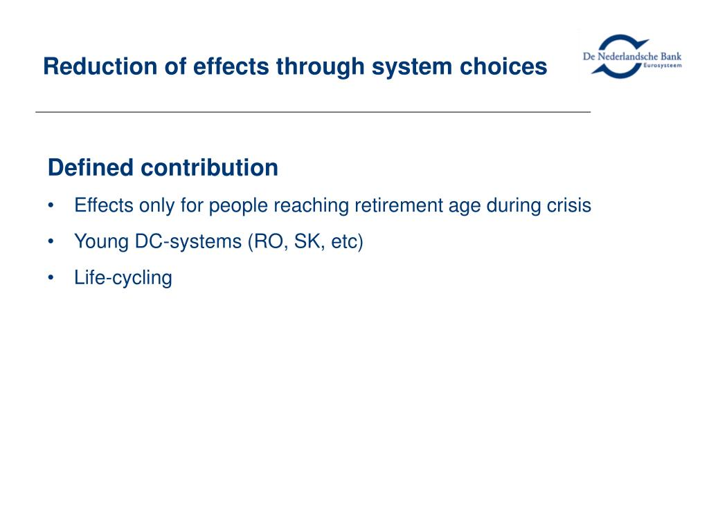 Reduction of effects through system choices