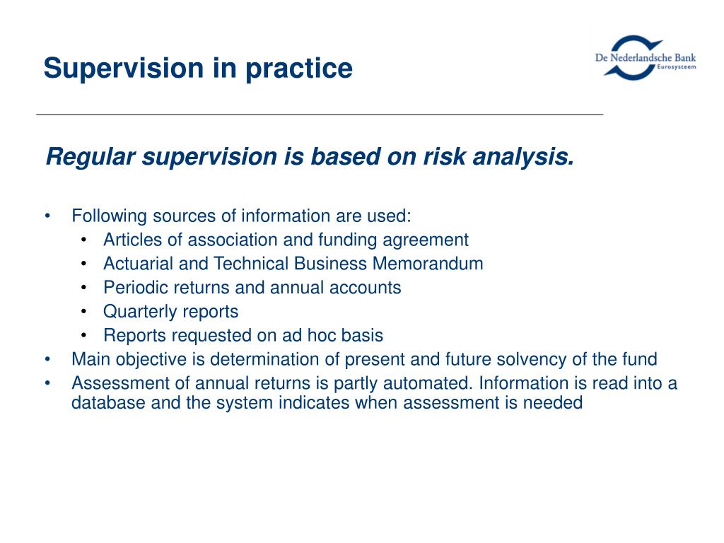 Supervision in practice