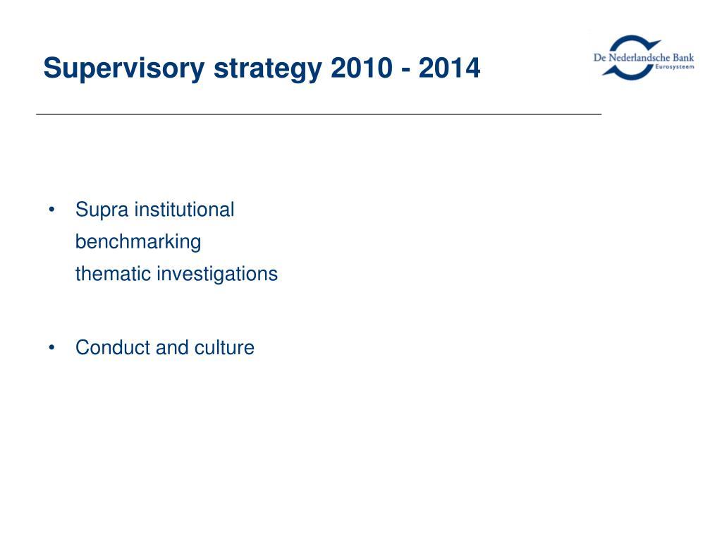 Supervisory strategy 2010