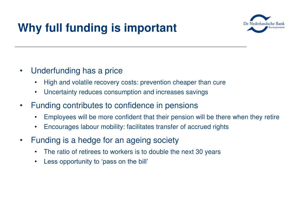 Why full funding is important