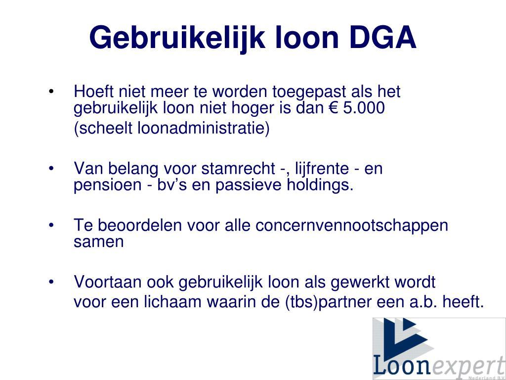 Gebruikelijk loon DGA