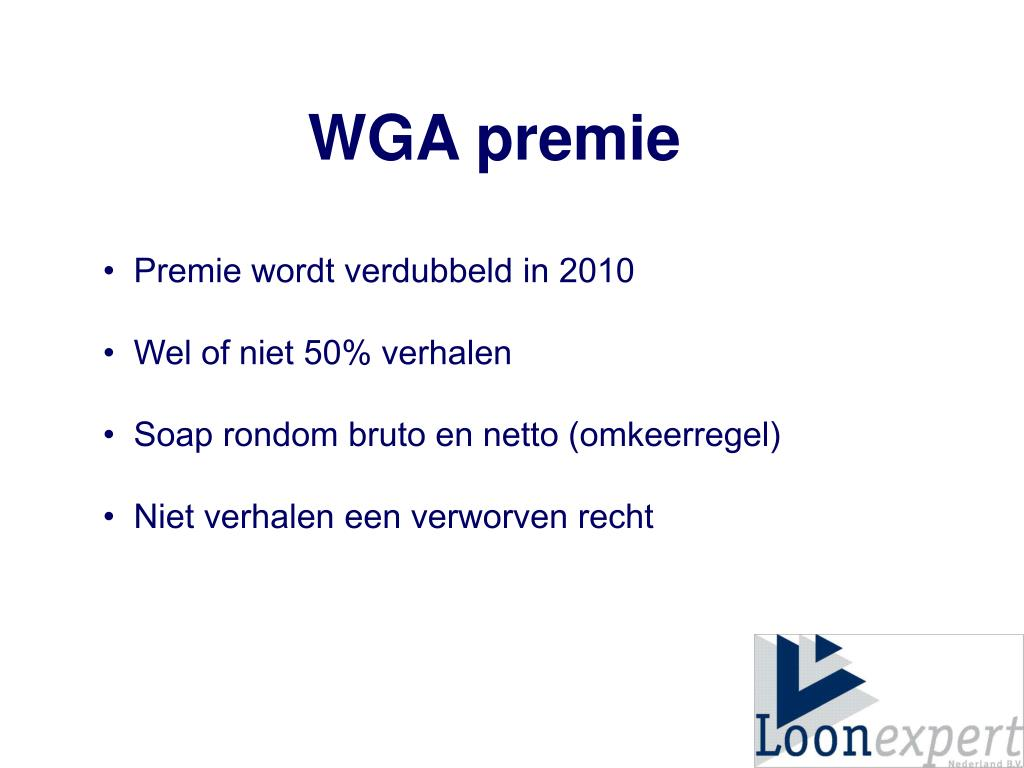WGA premie
