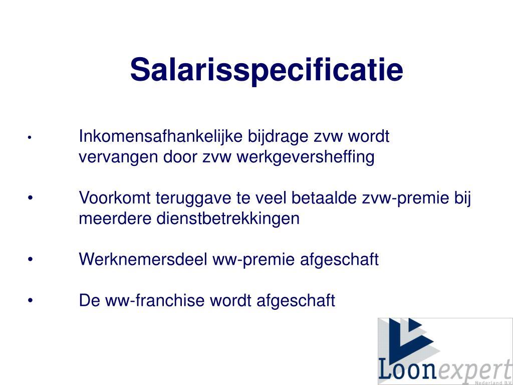 Salarisspecificatie