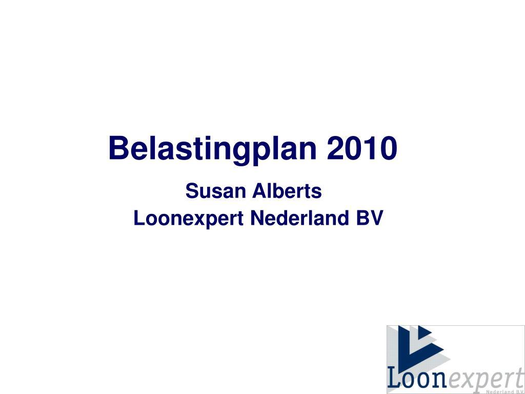 Belastingplan 2010