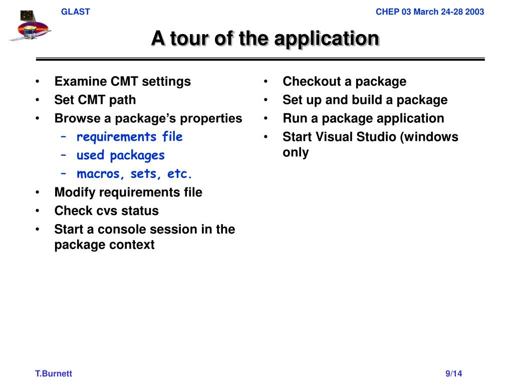 Examine CMT settings
