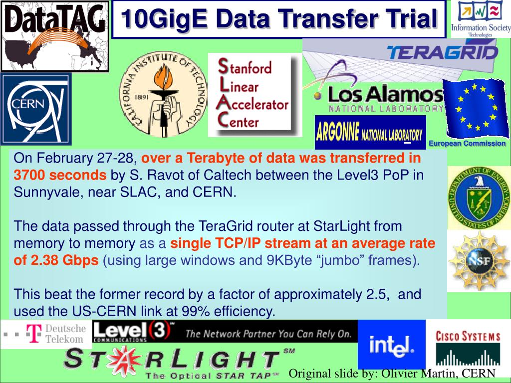 10GigE Data Transfer Trial