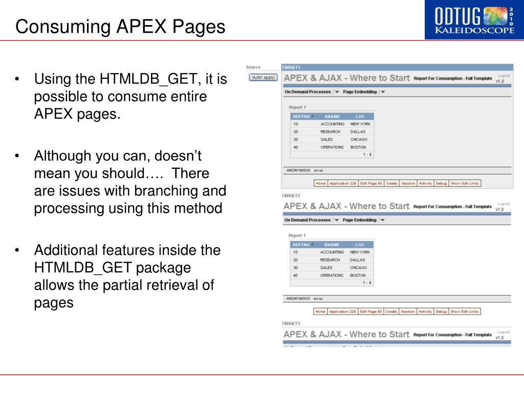 Consuming APEX Pages