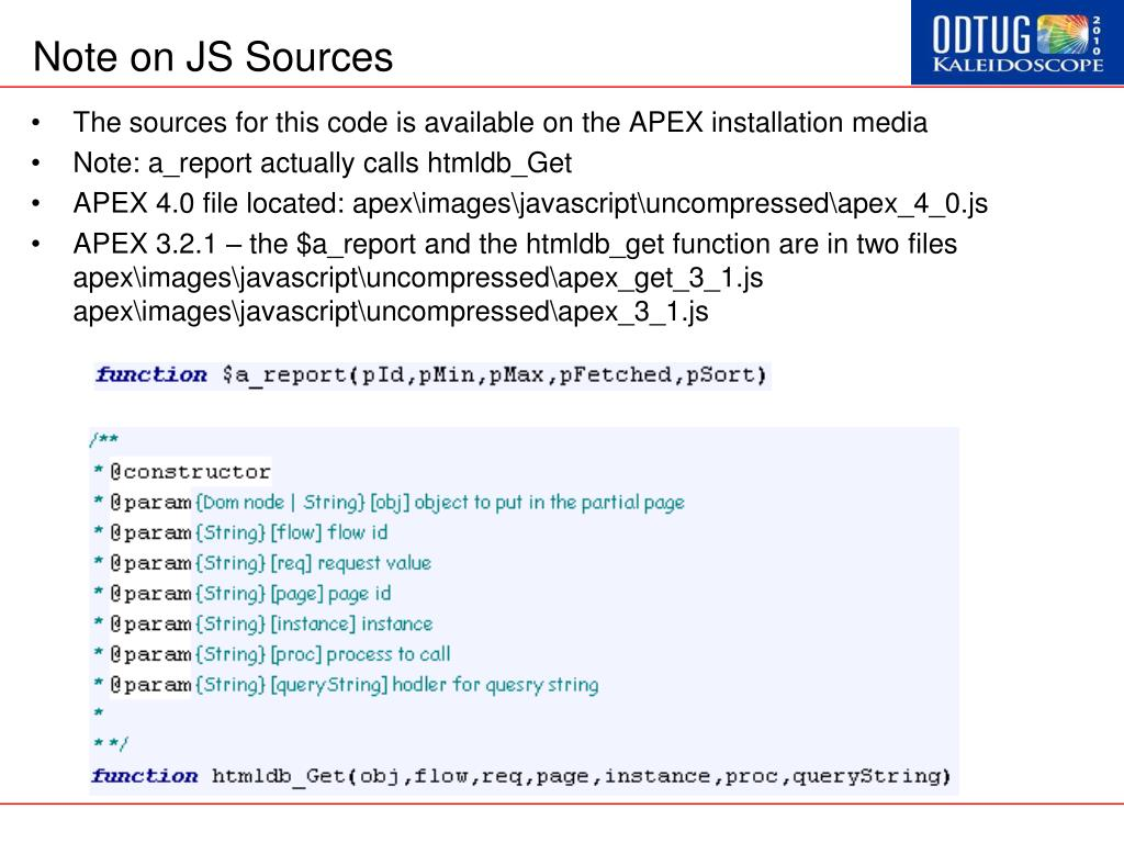 Note on JS Sources